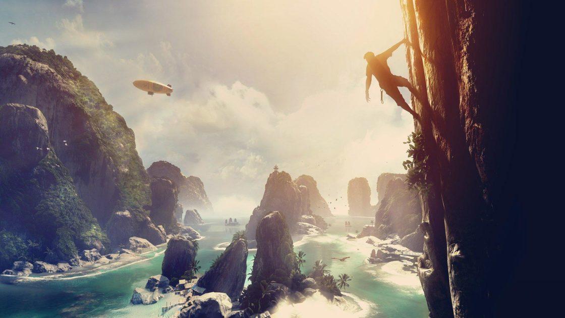 Скрин из игры The Climb