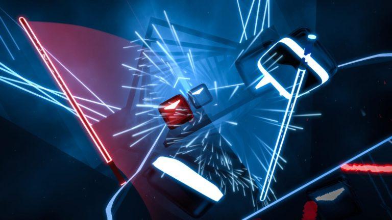 Скрин из игры Beat Saber