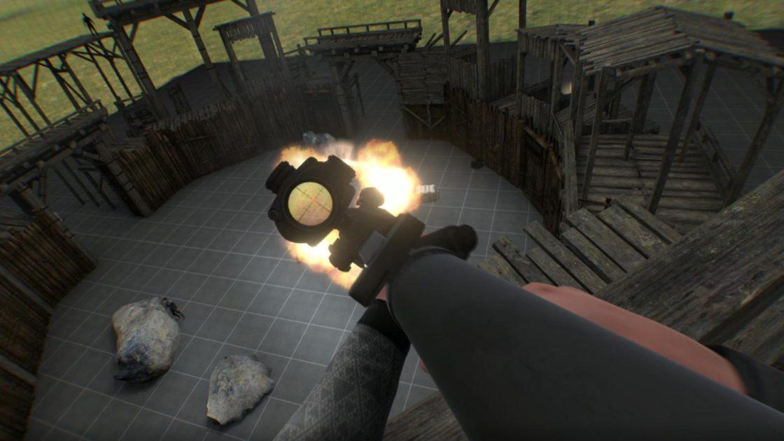 Скрин из игры BONEWORKS