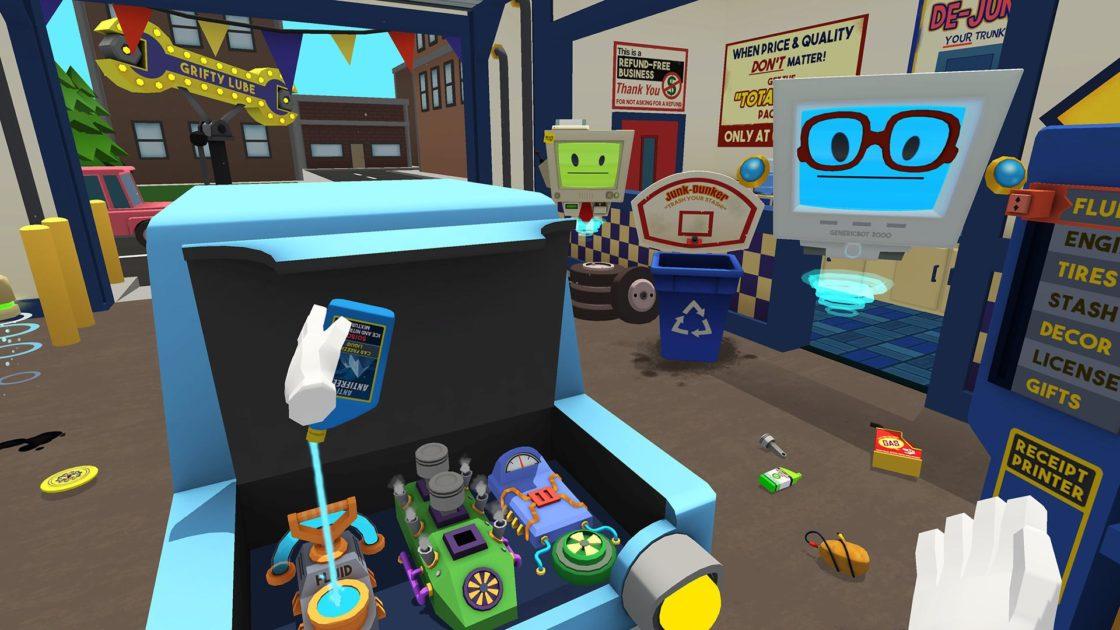 Скрин из игры Job Simulator