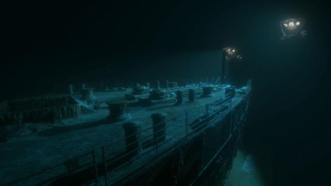 Скрин из игры Titanic VR